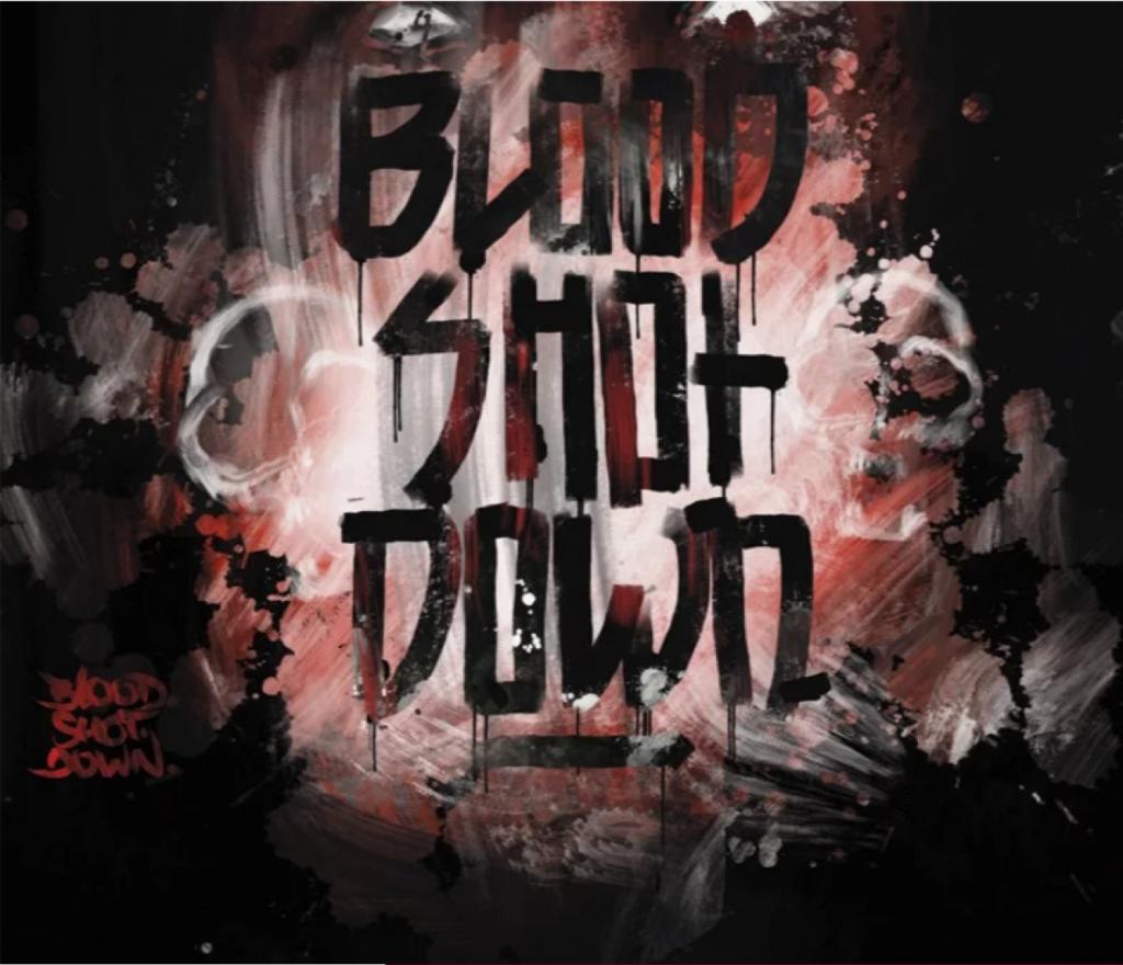 Blood Shot Down Banner